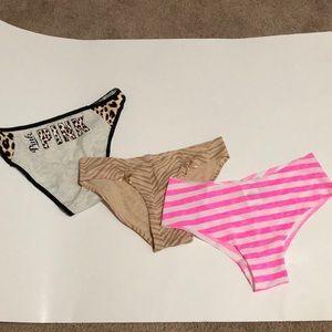 NWT Set 3 Pink Victoria's Secret Pink Underwear